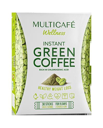 قهوه سبز فوری مولتی کافه تندرستی